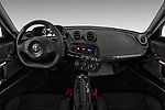Stock photo of straight dashboard view of 2018 Alfa Romeo 4C Base 2 Door Coupe