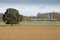 Railway line running through farmland <br /> Picture Tim Scrivener 07850 303986<br /> &hellip;.covering agriculture in the UK&hellip;.
