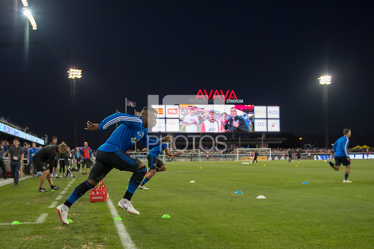 San Jose, CA - Thursday January 21, 2016: San Jose Earthquakes  prior to a Major League Soccer (MLS) match between the San Jose Earthquakes and the New York Red Bulls at Avaya Stadium.