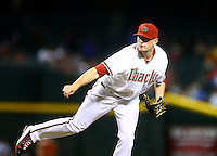 Apr 28, 2015; Phoenix, AZ, USA; Arizona Diamondbacks pitcher Daniel Hudson against the Colorado Rockies at Chase Field. Mandatory Credit: Mark J. Rebilas-USA TODAY Sports