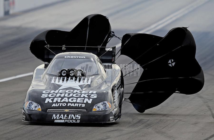Nov. 1, 2008; Las Vegas, NV, USA: NHRA funny car driver Del Worsham during qualifying for the Las Vegas Nationals at The Strip in Las Vegas. Mandatory Credit: Mark J. Rebilas-