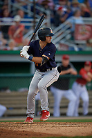 State College Spikes David Vinsky (11) at bat during a NY-Penn League game against the Batavia Muckdogs on July 3, 2019 at Dwyer Stadium in Batavia, New York.  State College defeated Batavia 6-4.  (Mike Janes/Four Seam Images)