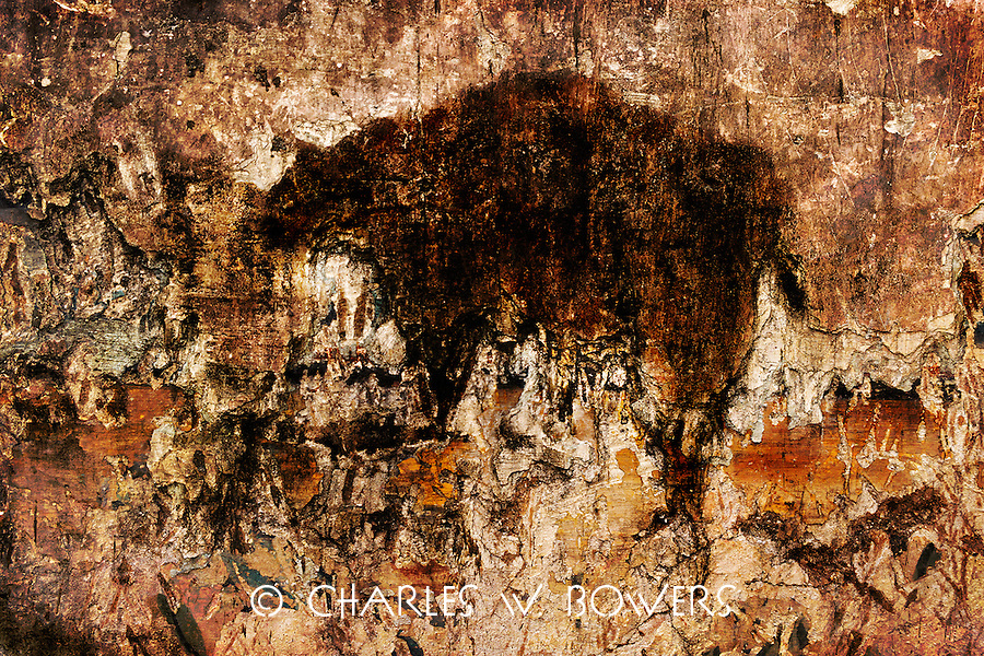 The walls of the sugar mill ruin<br />