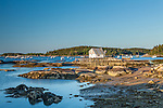Early morning on the harbor in Stonington, Maine, USA