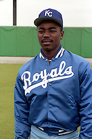 Kansas City Royals Tom Gordon during spring training circa 1989 at Baseball City Stadium in Davenport, Florida.  (MJA/Four Seam Images)
