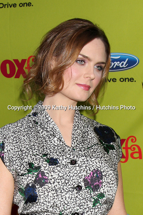 Emily Deschanel arriving at the FOX-Fall Eco-Casino Party at BOA Steakhouse  in West Los Angeles, CA on September 14, 2009.©2009 Kathy Hutchins / Hutchins Photo