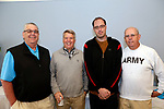 Bristol, CT- 06 June 2017-060617CM14- Kevin Lynch of Branford, Tom Massimino Southampton, MA, Jeff D'Amico Harleysville, PA and Fred D'Amico from Jamison PA,  are photographed during the annual Brian Gibbons Memorial Golf Tournament at the Chippanee Golf Club in Bristol on Tuesday.  Christopher Massa Republican-American