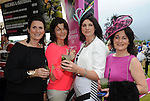 Pictured enjoying the summer fayre on the Ross Hotel / Lane Bar Champagne &amp; Cocktail Marquee at Killarney Races ladies Day on Thursday were from left, Maryann Casey Kilgarvan, Cathy kelleher, Kilgarvan, Kim Kennedy, Kemare and Chris Siochru, Kenmare<br /> Picture by Don MacMonagle<br /> <br /> <br /> PR Photo from Ross Hotel