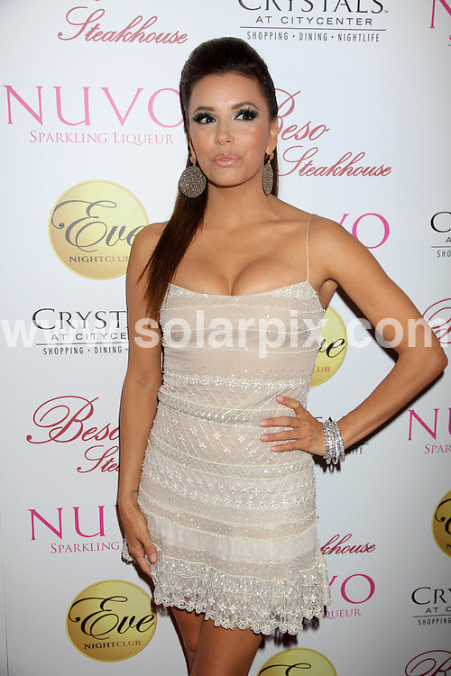 **ALL ROUND PICTURES FROM SOLARPIX.COM**                                             **SYNDICATION RIGHTS FOR UK, AUSTRALIA, DENMARK, PORTUGAL, S. AFRICA, SPAIN & DUBAI (U.A.E) & ASIA (EXCLUDING JAPAN) ONLY**                                                                                  Caption: Eva Longoria 36th Birthday Celebration with Nuvo at Beso Steakhouse and Eve Nightclub in Las Vegas, USA. 18 March 2011                                                                              This pic: Eva Longoria                                                                                             JOB REF: 12999 PHZ Prn      DATE: 18_03_2011                                                           **MUST CREDIT SOLARPIX.COM OR DOUBLE FEE WILL BE CHARGED**                                                                      **MUST AGREE FEE BEFORE ONLINE USAGE**                               **CALL US ON: +34 952 811 768 or LOW RATE FROM UK 0844 617 7637**
