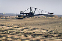 - east Germany, mine of lignite coal (brown coal) near Zeitz<br />