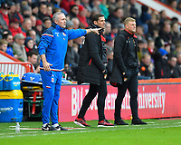 Stoke City Manager Paul Lambert left gives instructions during AFC Bournemouth vs Stoke City, Premier League Football at the Vitality Stadium on 3rd February 2018
