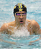 Michael Chang of St. Anthony's competes in the 200-yard individual medley during the CHSAA City Championships at Nassau Aquatic Center on Sunday, Feb. 12, 2017.