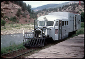RGS Goose #5 southbound at Placerville station platform.<br /> RGS  Placerville, CO  Taken by Kindig, Richard H. - 7/13/1946