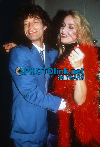 Mick Jagger Jerry Hall in 1988<br /> Photo By Adam Scull/PHOTOlink