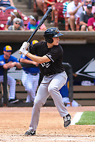Quad Cities River Bandits second baseman Tyler Wolfe (10) at bat during a Midwest League game against the Wisconsin Timber Rattlers on June 27, 2017 at Fox Cities Stadium in Appleton, Wisconsin.  Quad Cities defeated Wisconsin 6-5. (Brad Krause/Four Seam Images)