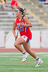 Redondo Beach, CA 05/14/11 -  Keaton Otake (Los Alamitos #27) in action during the 2011 US Lacrosse / CIF Southern Section Division 1 Girls Varsity Lacrosse Championship, Los Alamitos defeated Redondo Union 17-5.