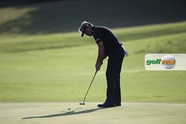 Darren Clarke (NIR) putts out on the 11th during Round One of the Africa Open 2015 at the East London Golf Club, East London, Eastern Cape, South Africa. Picture:  David Lloyd / www.golffile.ie. 05/03/2015