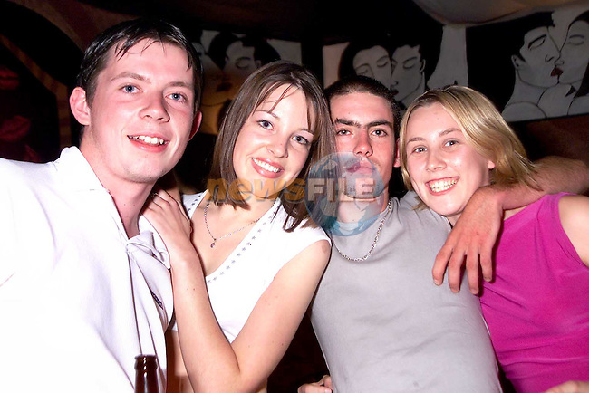 John Bird, Sandyford Terrace, Ellen Coleman, Duleek, Johnny Mullen, Chord Road and Fiona Hughes, Donore enjoying a night out in Kiss over the weekend..Picture Paul Mohan Newsfile