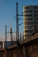 Walk from Mitte through to Treptow along the Spree one very cold winters afternoon.<br /> BVG offices