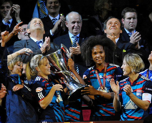 26.05.2011 Womens Champions League Final from Craven Cottage in London. FFC Turbine Potsdam v Olympique Lyonnais. Lyonnaise won 2-0. Post match celebrations