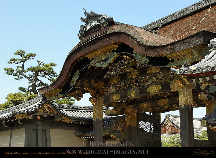 Karamon Gate moved from Fushimi Castle Momoyama period Nijo Castle Kyoto