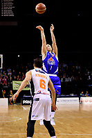 Saints&rsquo; Shaun Bruce in action during the NBL - Cigna Saints v Hawkes Bay Hawks at TSB Arena, Wellington, New Zealand on Sunday 27 May 2018.<br /> Photo by Masanori Udagawa. <br /> www.photowellington.photoshelter.com