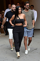 www.acepixs.com<br /> August 2, 2017 New York City<br /> <br /> Kim Kardashian and Scott Disick leaving Cipriani Downtown on August 2, 2017 in New York City.<br /> <br /> Credit: Kristin Callahan/ACE Pictures<br /> <br /> <br /> Tel: (646) 769 0430<br /> e-mail: info@acepixs.com