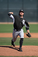 Chicago White Sox relief pitcher Brandon Brennan (38) during a Minor League Spring Training game against the Cincinnati Reds at the Cincinnati Reds Training Complex on March 28, 2018 in Goodyear, Arizona. (Zachary Lucy/Four Seam Images)