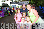 Sinead and Orna Driver with Isabell O'Sullivan Waters (Killarney) Audrey and Ella Fortune with Emily McCarthy (Ardfert) at the Killarney Women's Mini Marathon on Saturday last.