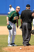 March 14, 2010:  Head Coach Tod Brown (21) of North Dakota State University Bison vs. Akron University at Chain of Lakes Park in Winter Haven, FL.  Photo By Mike Janes/Four Seam Images
