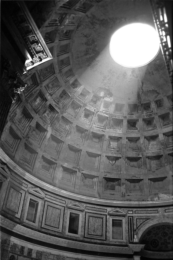 The dome of the Pantheon, Rome, Italy