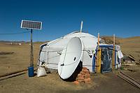 Yurt w./satellite dish & solar panle.