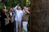 O secretário geral da ONU Ban Ki Moon,  durante sua visita ao museu Emílio Goeldi em Belém.<br /> Belém Pará Brasil<br /> 13/11/2007<br /> Foto Paulo Santos/Interfoto