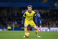 Dan Crowley of Oxford United looks for options during the The Checkatrade Trophy match between Chelsea U23 and Oxford United at Stamford Bridge, London, England on 8 November 2016. Photo by Andy Rowland.