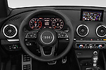Car pictures of steering wheel view of a 2018 Audi A3 Premium 2 Door Convertible