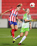 Atletico de Madrid's Angela Sosa (l) and VfL Wolfsburg's Lara Dickenmann during UEFA Womens Champions League 2017/2018, 1/16 Final, 1st match. October 4,2017. (ALTERPHOTOS/Acero)