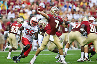 October 31, 2009:   Florida State quarterback Christian Ponder (7) during  Atlantic Coast Conference action between the North Carolina State Wolfpack and Florida State Seminoles at Doak Campbell Stadium in Tallahassee, Florida.