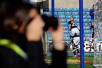 Steve Morison leaps onto the back of Millwall's George Saville to celebrate their opening goal during Millwall vs Brentford, Sky Bet EFL Championship Football at The Den on 10th March 2018