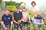 GREENFINGERS: Preparing the plants and flowers at the Kerry Parents & Friends Centre garden in Listowel this week were l-r: Tom Windle, Mike Connaughton, Denis Horgan, Mike O'Connor, Lucy Trant and Owen Carey.