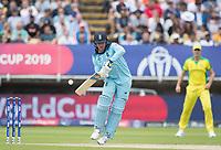 Jason Roy (England) down the wicket during Australia vs England, ICC World Cup Semi-Final Cricket at Edgbaston Stadium on 11th July 2019