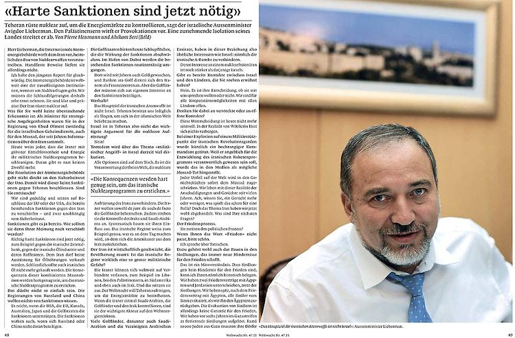 Die Weltwoche, Switzerland - November 23, 2011