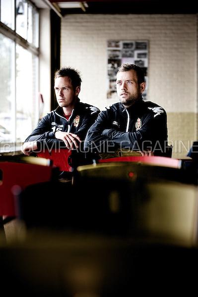 Danish football players Thomas Enevoldsen and Nicklas Pedersen (Belgium, 17/07/2012)