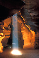 Iconic symbolic image which represents the spirit of the Antelope Slot Canyons in the desert of the Colorado Plateau near Lake Powell and Page Arizona