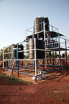 The filtration system installed by an American charity could provide safe drinking water. The site is currently closed because the price of oil is too high for villagers to make the mechanical pump work. Gburumani, Northern Region, Ghana.