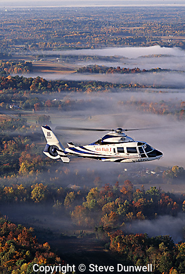 Duke Hospital med-evac helicopter, Durham, NC