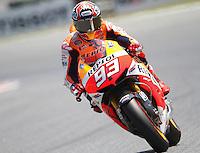 14.06.2013 Barcelona, Spain. Gran Premi Aperol de Catalunya. Free practice 2. Picture show Marc Marquez riding Honda at Circuit de Catalunya