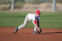 Theodore Quismondo (45), from Waianae, Hawaii, while playing for the Nationals during the Under Armour Baseball Factory Recruiting Classic at Red Mountain Baseball Complex on December 29, 2017 in Mesa, Arizona. (Zachary Lucy/Four Seam Images)
