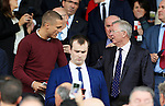 Former Manchester United Nemanja Vidic and Sir Alex Ferguson watch from the stand during the Premier League match at Old Trafford Stadium, Manchester. Picture date: September 24th, 2016. Pic Sportimage
