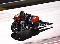 Jul 20, 2019; Morrison, CO, USA; NHRA pro stock motorcycle rider Eddie Krawiec during qualifying for the Mile High Nationals at Bandimere Speedway. Mandatory Credit: Mark J. Rebilas-USA TODAY Sports