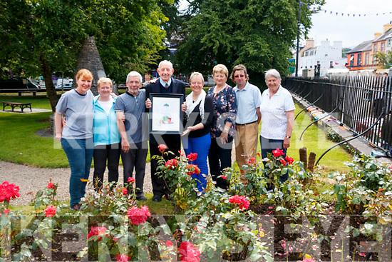 Kenmare was crowned Ireland's Best-Kept Small Town in Ireland, from left: Dagmar Kunze, Honor Fitzgerald, John O' Neill, John O' Sullivan PO, Maureen Finnegan, Elearon Connor – Scarteen, Noel Crowley, Eileen Daly.